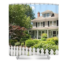 Shower Curtain featuring the photograph Behind The Picket Fence by Charles Kraus
