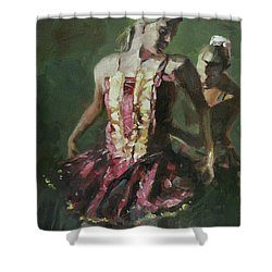Behind The Scenes Shower Curtain by Mia DeLode