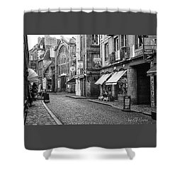 Shower Curtain featuring the photograph Behind The Walls 2 by Elf Evans