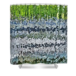 Behind The Waterfall Shower Curtain