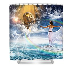 Behold, He Is Coming  Shower Curtain