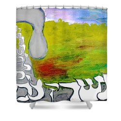 Behold The Hey Ab12 Shower Curtain