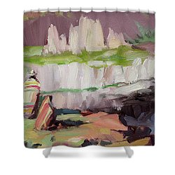 Beholding Palouse Falls Shower Curtain