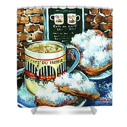 Beignets And Cafe Au Lait Shower Curtain