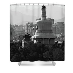 Beijing City 3 Shower Curtain by Xueling Zou