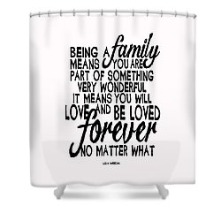 Shower Curtain featuring the painting Being A Family by Lisa Weedn