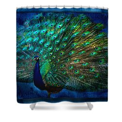 Being Yourself - Peacock Art Shower Curtain