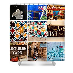 Beirut Colorful Life Shower Curtain