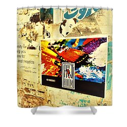 Beirut Wall  Shower Curtain by Funkpix Photo Hunter