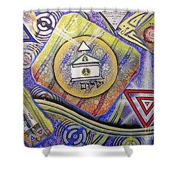Beit Shalom Shower Curtain
