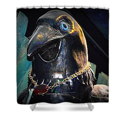 Shower Curtain featuring the photograph Bejeweled Bird by AJ Schibig