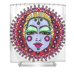 Bejeweled Blond Shower Curtain