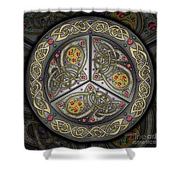 Bejeweled Celtic Shield Shower Curtain
