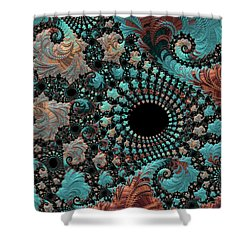 Shower Curtain featuring the digital art Bejeweled Fractal by Bonnie Bruno