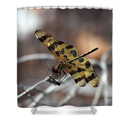 Bejeweled Wings Shower Curtain