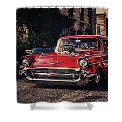 Shower Curtain featuring the photograph Bel Air Hotrod by Joel Witmeyer