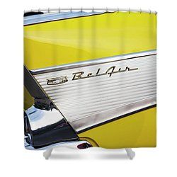 Shower Curtain featuring the photograph Bel Air Tail Fin by Toni Hopper