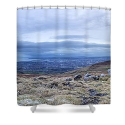 Belfast Lough From Divis Mountain Shower Curtain