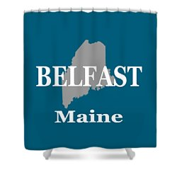 Shower Curtain featuring the photograph Belfast Maine State City And Town Pride  by Keith Webber Jr