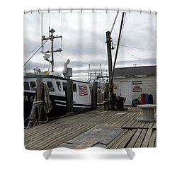 Belford Nj Fishing Port Shower Curtain
