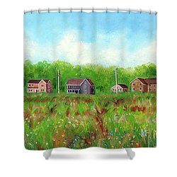 Belford's Nj Skyline Shower Curtain