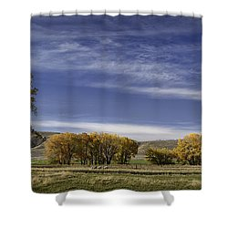 Belfry Fall Landscape 6 Shower Curtain