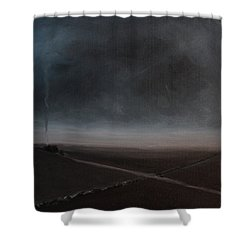 Belgian Wintertime Shower Curtain
