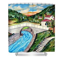 Beli Most Vranje Serbia Shower Curtain by Roberto Gagliardi