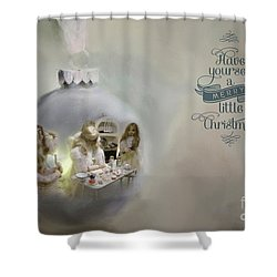 Believe In The Magic Of Christmas Shower Curtain