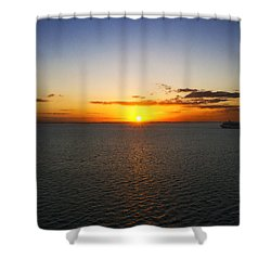 Belize Sunset Shower Curtain by Marlo Horne