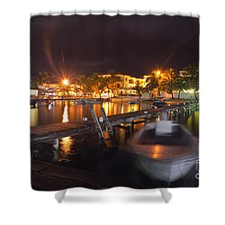 Shower Curtain featuring the photograph Belizean Night  by Yuri Santin