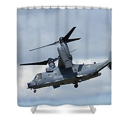 Bell/boeing Cv-22b Osprey Shower Curtain by Paul Scoullar