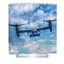 Bell Boeing V-22 Osprey  Shower Curtain