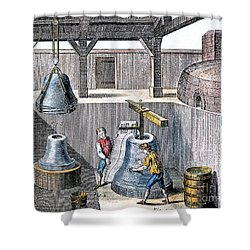 Bell Casting, 1763 Shower Curtain by Granger