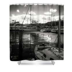 Bell Haven Docks Shower Curtain
