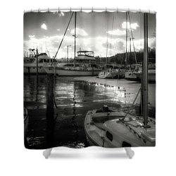 Bell Haven Docks Shower Curtain