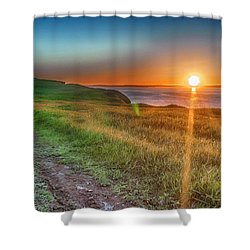 Bell Island Sunset  Shower Curtain