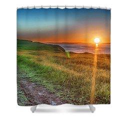 Bell Island Sunset  Shower Curtain