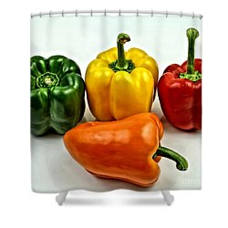 Bell Peppers 3 Shower Curtain