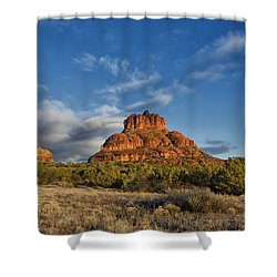 Bell Rock Beams Shower Curtain