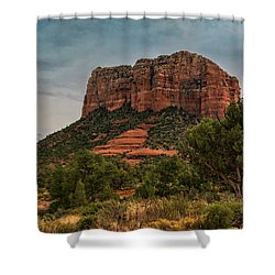 Shower Curtain featuring the photograph Courthouse Butte - Sedona  by Saija Lehtonen