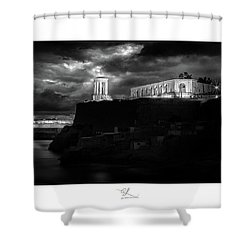 Bell Tower Memorial Shower Curtain