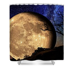 Bella Luna From Another World Shower Curtain