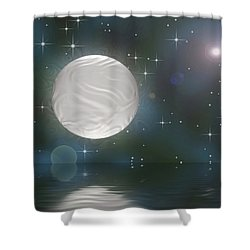 Shower Curtain featuring the digital art Bella Luna by Wendy J St Christopher
