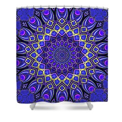 Shower Curtain featuring the digital art Bella - Purple by Wendy J St Christopher