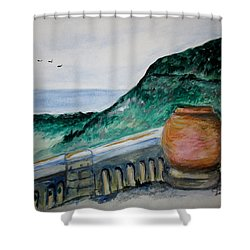 Bella Vista, Cumae Italy Shower Curtain