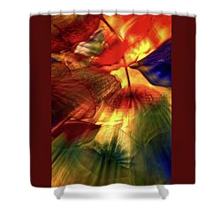 Bellagio Ceiling Sculpture Abstract Shower Curtain