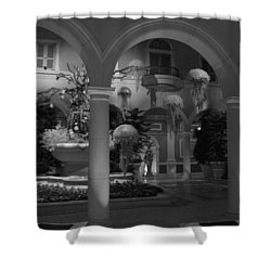 Shower Curtain featuring the photograph Bellagio Entrance by Ivete Basso Photography