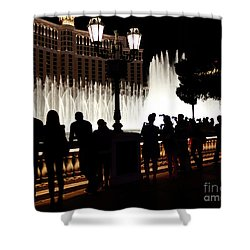 Bellagio Fountain Silhouettes  Shower Curtain by Maria Janicki