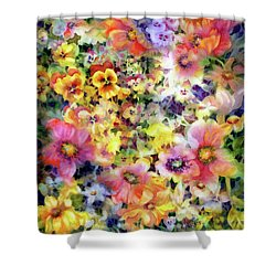 Belle Fleurs I Shower Curtain
